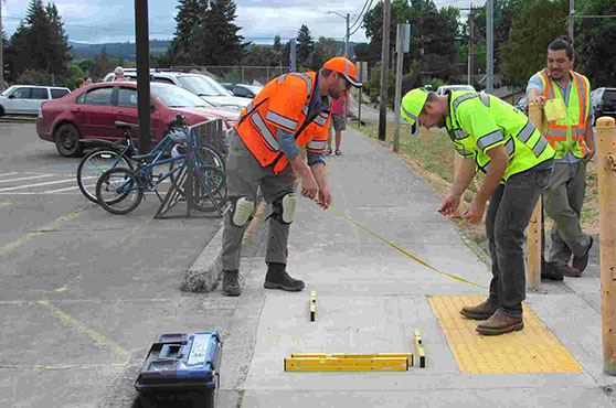 Oregon needs 13 more years to get sidewalk ramps to comply with disabilities act Ben Botkin, Salem Statesman Journal January 29, 2019 https://www.statesmanjournal.com/story/news/politics/2019/01/29/oregon-transportation-department-curb-ramps-ada-compliant/2615998002/
