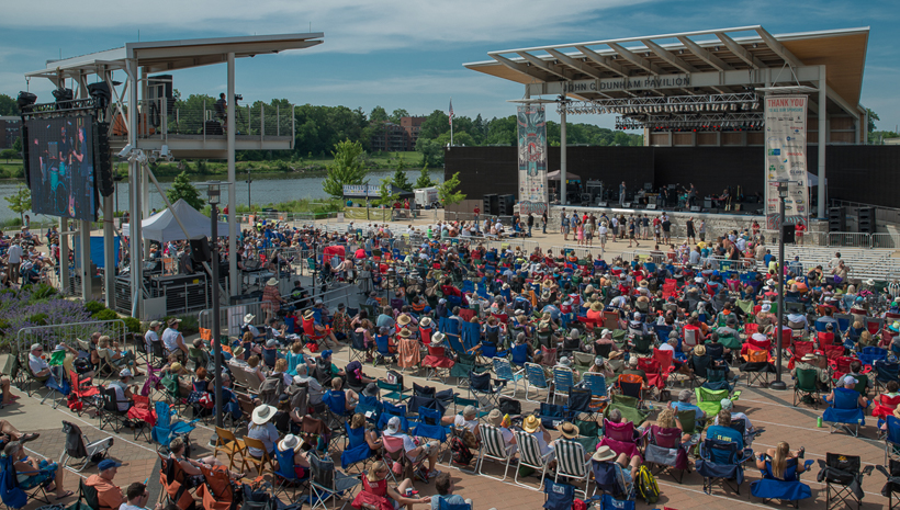 In Aurora, Illinois, the City is using a variety of funding sources to make its RiverEdge Park, a major music venue in the region, more accessible by adding better parking, accessible shuttles, and 60 ADA compatible companion seats.