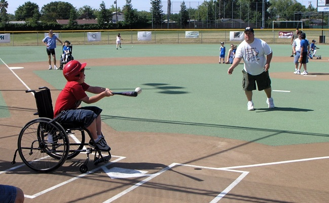 Baseball Diamond Made For People With Disabilities Reopens In South Sacramento CBS Sacramento April 13, 2019 https://sacramento.cbslocal.com/2019/04/13/baseball-diamond-made-for-people-with-disabilities-reopens-in-south-sacramento/
