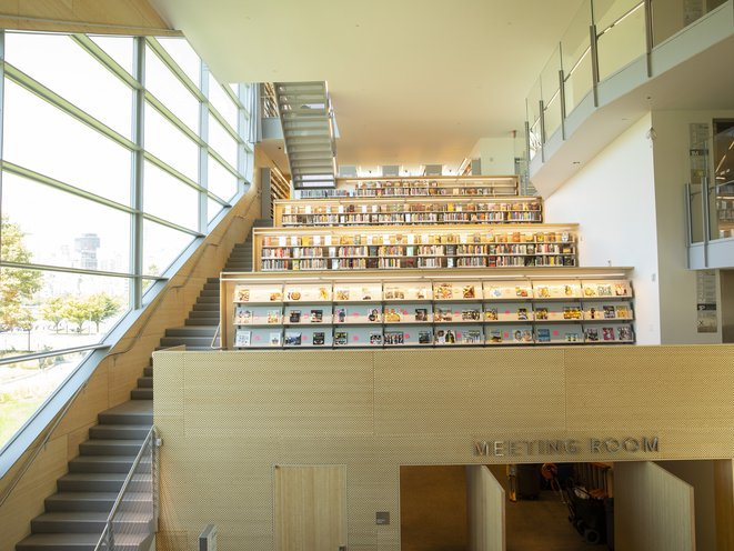 Interior of Hunters Point Library